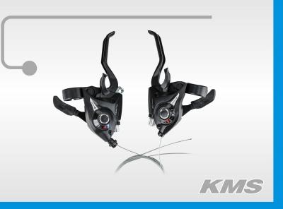 Комплект ручек перекл. скор. Index (моноблок черный) 3х7, аналог Shimano EF-51, применяется при сборке велосипедов KMS Lite, Pulse