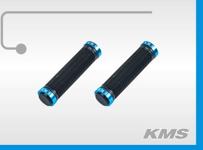Ручка руля 120мм (пара), черная с цветными алюминиевыми наконечниками