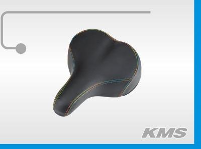 Седло на пружинах, для велосипеда, с цветной строчкой, бренд KMS, модель 2018года