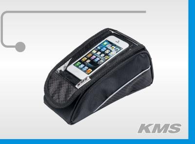 Велосумка на раму MONO с чехлом для телефона (черная).