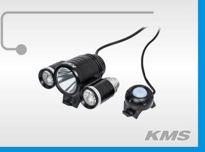"""Фара  LED, передняя, алюминиевая,  1800 люмен, с акб 8.4V, 3 режима работы, """"KMS"""""""