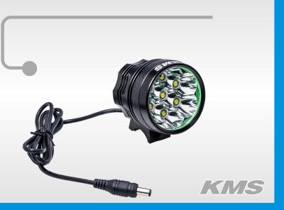 "Фара  LED, передняя, алюминиевая, 8200 люмен, семь диодов, с акб 8.4V, 3 режима работы, ""KMS"""