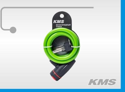"Велозамок ""KMS"", трос Ø 10х1200, инд. упак., модель 2016 года"
