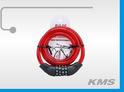 """Велозамок """"Pulse"""", трос Ø 12*1200, сменный код."""